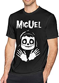 Coco Miguel Misfits Soft and Comfortable Men's T-Shirt with Round Collar Black