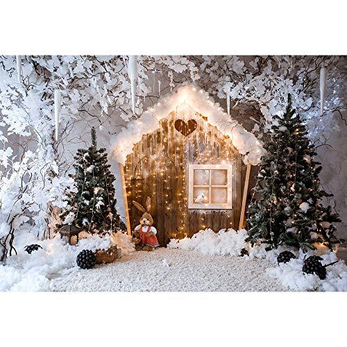 Fondos de Navidad para Fiestas Familiares, Invierno, Nieve, árbol, Santa, Piso de...