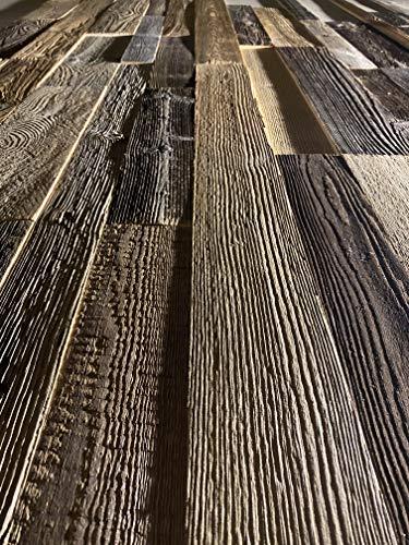 3D Altholz Wandverkleidung zum Kleben. Vintage Holz Verkleidung. Schnell anzubringende Wandpeneele. Tolle Holzdeko für die Wand. Echtholz Verblender - 6
