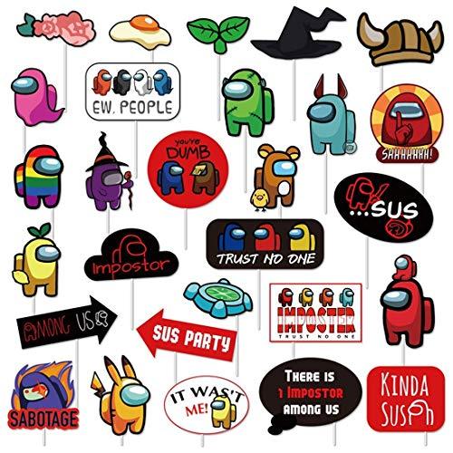 DIY Photo Booth Miotlsy 28 piezas Accesorios para Photocalls Photocall Party Set...