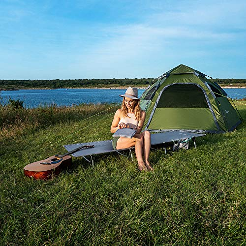 61WIZ8BDRQL - MOON LENCE Folding Camping Cot Outdoor Camping Bed Portable with Carry Bag Camp Cot for Adults for Hiking Backpacking Car Camping Outdoor&Indoor Use