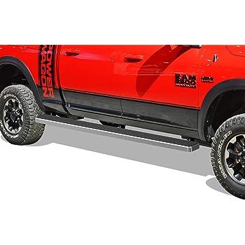 Off Roader Eboard Running Board 6 Silver Fits 2009-2018 Dodge Ram 1500 Crew Cab Pickup 4-Door /& 2010-2018 Ram 2500 3500 Nerf Bar   Side Steps   Side Bars