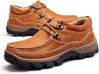 Générique Homme Outdoor Oxfords Confortable Durable Lace Up Walking Casual Chaussures en Cuir Respirant Résistant À l'usur...