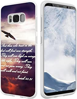 S8 Plus Case Bible Verses,Hungo Soft TPU Silicone Protective Cover Compatible with Samsung Galaxy S8 Plus Christian Sayings Sayings Isaiah 40:31