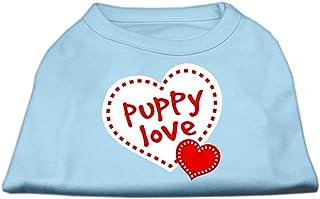 Mirage Pet Products Puppy Love Screen Print Shirt Baby Blue Medium