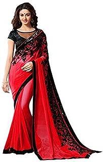 Best red georgette saree Reviews