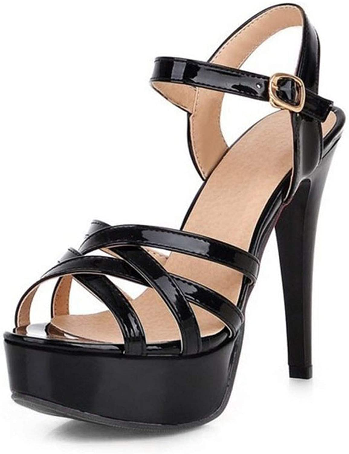 High Heel Sandals Peep Toe Ankle Strap Thin Heel Sandals Office Lady Summer shoes
