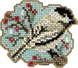 Little Chickadee Beaded Counted Cross Stitch Ornament Kit Mill Hill 2018 Winter Holiday MH181831