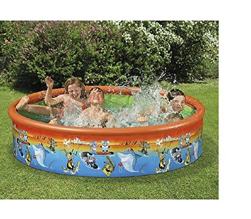 Familienpool Babypool Baby Pool Planschbecken Kinderpool Kinderplanschbecken Schwimmbecken Baby-Pool . Mit Koalabär , Krokodil , Känguru , Hai . Australien . Ideal für den Garten , Terrasse , Urlaub , Camping der ideale Wasserspass und Abkühlung an heissen Tagen ca. 185 cm Snap-Set Fix-Planschbecken Snap-Pool
