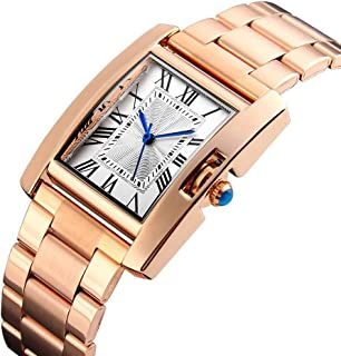 Waterproof Watch Rose Gold Woman Girl Lady Student Childlike Ultra-Thin Lame Quartz Watch Stainless Steel Strap Fashion Waterproof 3ATM Gift Box 3ATM (Color : Gold)