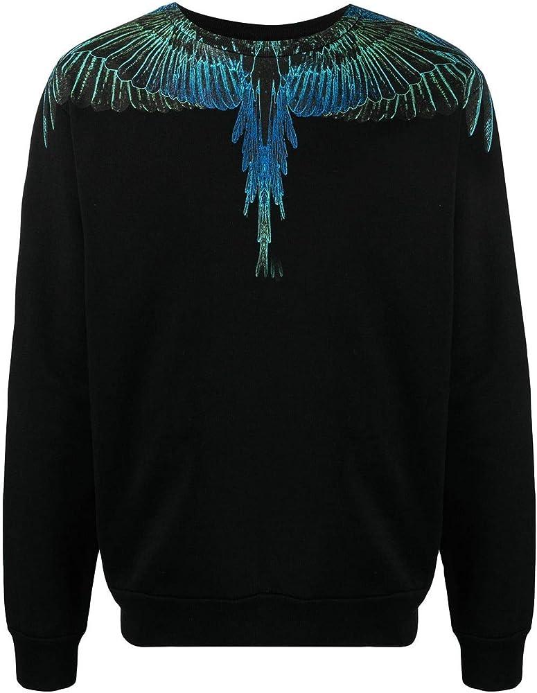 Marcelo burlon luxury fashion,felpa per uomo,100% cotone CMBA009R21FLE0011069