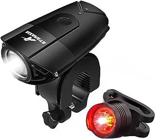 ATARAXIA 自転車ライト【改良版】 1200ルーメン 2000mah自転車ライト IP65防水 テールライト付き USB充電式