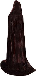 Txian Longitud Completa con Capucha Capa de Terciopelo Halloween Navidad Fancy Cape Trajes 59