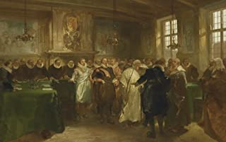 Prince Maurits Receiving A Russian Delegation In 1614 By Charles Rochussen 1874 Dutch Painting Oil On Canvas (Bsloc20162248) Poster Print (24 x 18)