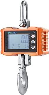 Hanging Scale,Klau 500 kg 1000 lb Digital Crane Scale Heavy Duty Industrial Smart Weighing Tool Hoist Orange for Farm Factory