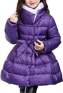 HAPPYJP 子供服 キッズ 子供 ロングコート 女の子 中綿 アウター ロング丈 冬 暖かい 通学