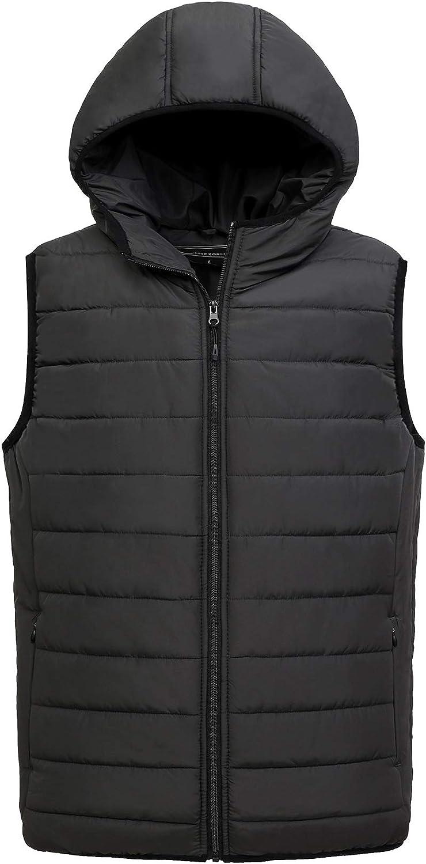 Men's Water-Resistant Lightweight Keep warm Max 53% OFF Puffer store Vest