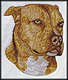 Pitbull Terrier, American Pit Bull, Staffy, Staffordshire AmStaffy Embroidered Patch 3' x 3'