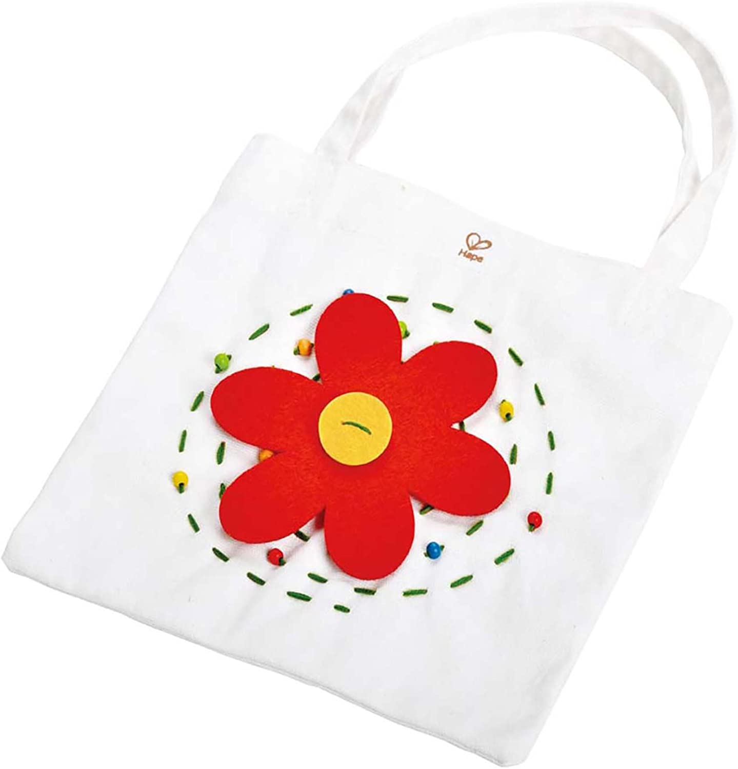 Hape Flower Power Tote Kid's Arts and Crafts Sewing Kit