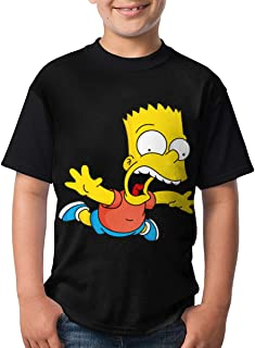 Bart-Simpson Teenager T-Shirt Short Sleeve Shirt
