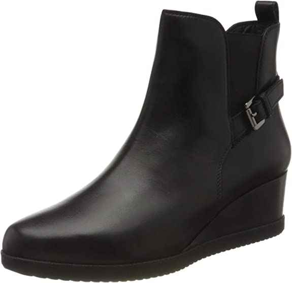 TALLA 40 EU. Geox D Anylla Wedge C, Ankle Boot Mujer