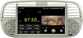 Sunshine Fly 6.2 Zoll Android 9.1 Quad core 1024 * 600 Touchscreen 2 DIN Auto DVD GPS Radio Stereo Für 500 SWC Unterstützen Blue Me Verstärker(Weiß)