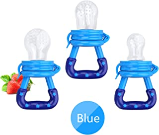 Baby Food Feeder 3 Pack Fresh Fruit Silicone Nipple Teething Toy Reusable Aching Gums..