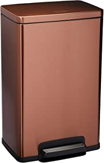 Tramontina 81200/560DS Bronze Contemporary Rectangular Step Can Freshener System, Trash Can, 13-Gallon
