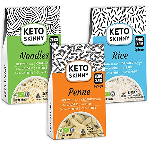 Keto Skinny Rice, Penne & Noodles - Konjac Flour Gluten Free Zero Sugar Low...