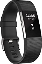 Fitbit Charge 2 Heart Rate + Fitness Wristband, Black, Large (International Version)