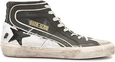 Golden Goose Luxury Fashion Uomo GMF00115F00079490184 Nero Pelle Hi Top Sneakers   Ss21