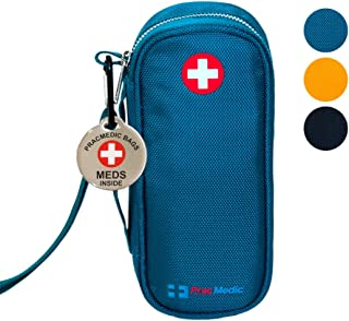 PRACMEDIC EpiPen Medicine Case for Emergencies - Fashionable, Insulated, Teal, 8� - Storage Bag Holds 2 EpiPens, Auvi Q, Antihistamine and Medicine - Easy Access (with Alert Tag)