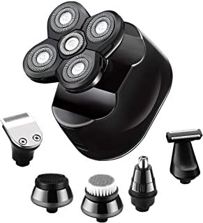 SURKER 6 in 1 Electric Shavers for Men Bald Head Shaver Electric Shaving Razors Rechargeable...