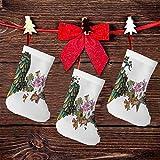 FULIYA (3 paquetes) calcetines de Navidad de 7.5 pulgadas, ramo de orquídeas vintage con alas de plumas, patrón exótico de belleza de primavera, decoración de fiesta de Navidad