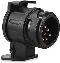 Navaris Trailer Adapter 13 Pin to 7 Pin - 12V Adapter for Car Trailer Caravan Truck Towbar Socket - Convert 13 Pin to 7 Pin for Light, Power (Black)