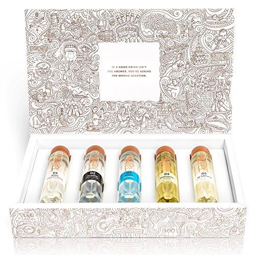"""Tastillery Gin Tasting Probierset """"Gin Weltreise"""" in Geschenkbox (5 x 50ml)"""