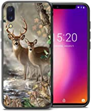 for Umidigi One Pro Case, Umidigi One Case, ABLOOMBOX Shockproof Slim Thin Soft Flexible TPU Silicone Protective Cover for Umidigi One/One Pro Hunting Camo Camouflage Deer in forest