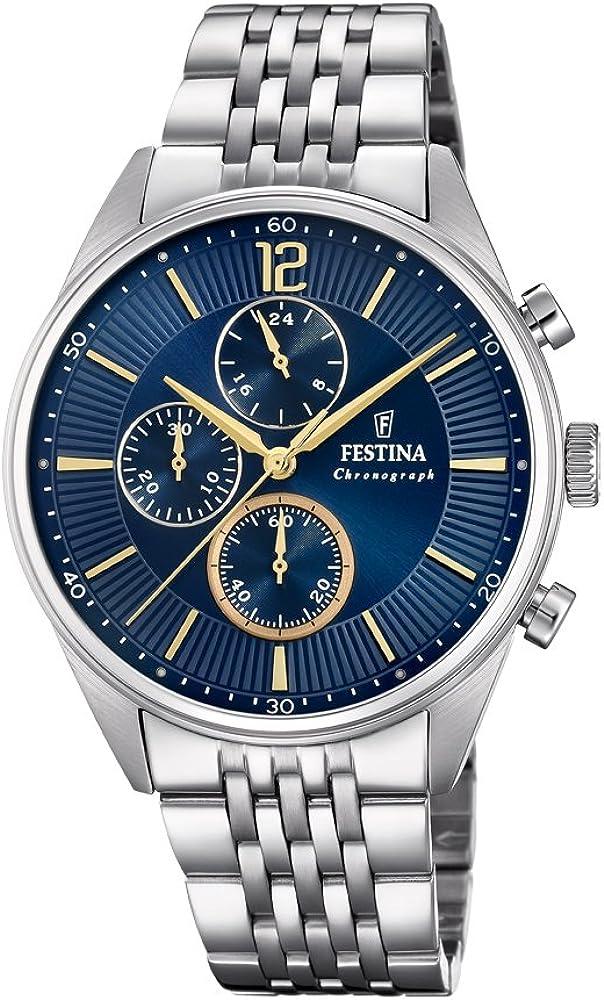 Festina orologio cronografo uomo in acciaio inox F20285/3