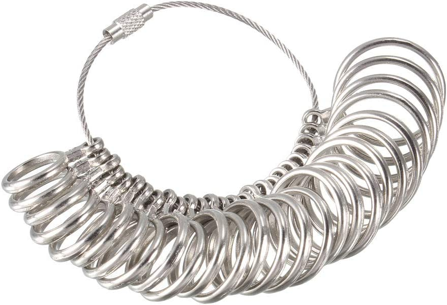 At the price of surprise uxcell Finger Credence Ring Sizer Gauge Set Circle US Models Zinc Al 0-13