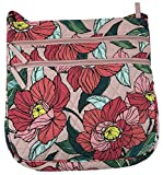 Vera Bradley Triple Zip Hipster Cross-body Bag with Updated Solid Interiors (Vintage Floral)