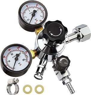Keg Regulator CO2, MRbrew Kegerator Regulator CGA-320, 0-60 PSI Working Pressure, 0-3000 PSI Tank Pressure, Beer Regulator, Co2 Pressure Regulator with Safety Pressure Relief Valve