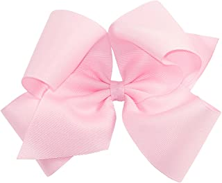 Wee Ones Baby Girls' King Grosgrain Hair Bow on a WeeStay Clip w/Plain Wrap