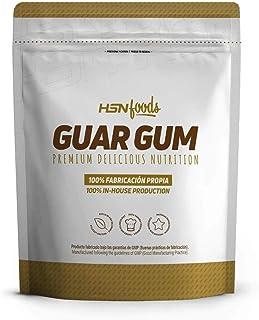 Goma Guar de HSN Foods - Espesante Natural y Saludable para Recetas – Fuente de Fibra, Saciante - Sin Gluten, Sin Lactosa, Apto Veganos, En Polvo - 500g