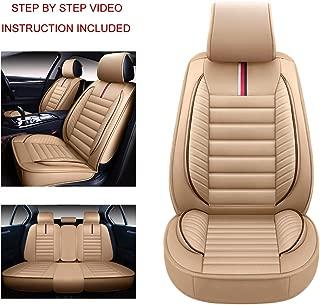 Oasis Auto OS-001 Universal Leather Seat Covers Car and SUV Cushion Automotive Vehicle Interior Accessory Replacement: Honda-Toyota-Nissan-Subaru-Jeep-Hyundai-Mazda-KIA-Ford-Chevy-Acura-VW-Lexus-BMW