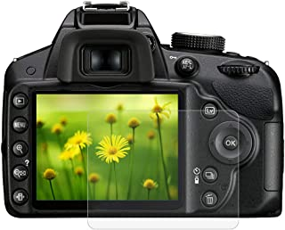 BYbrutek Protector de Pantalla de Vidrio Templado para Nikon D3200/D3300 03 mm Ultratransparente Lámina de protección LCD con Dureza 9H Antiarañazos sin Burbujas Antihuellas (D3200/D3300)