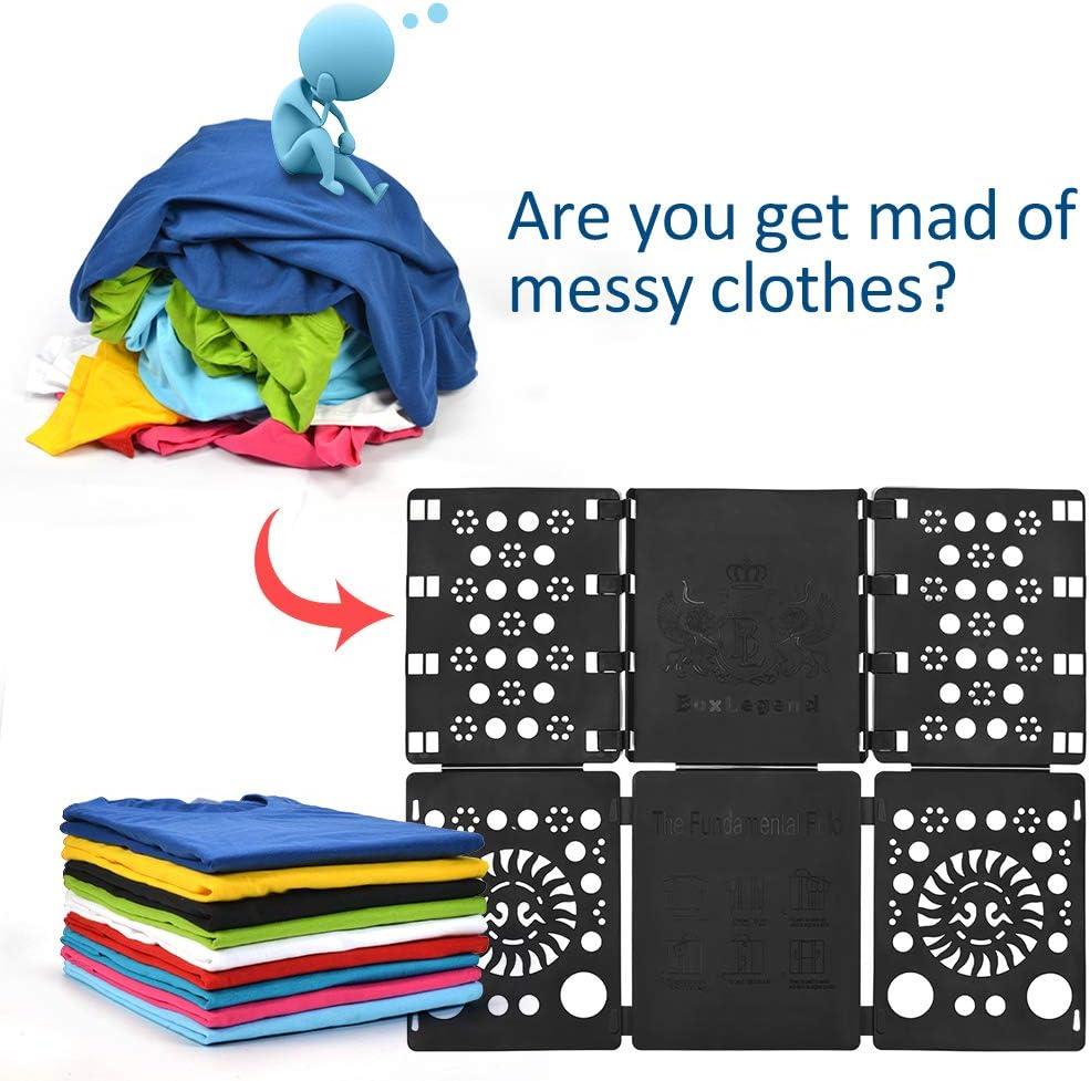 BoxLegend Doblador de Ropa - Tabla para Doblar la Ropa - Placa Ayuda para Plegar la Ropa 57 * 70 cm Camisetas Tablero para Plegar Camisas Negro