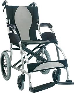 Karman Healthcare S-2501 Ergonomic Ultra Lightweight Transport Chair, Pearl Silver, 16-Inch Seat Width