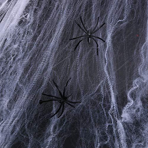 UELEGANS 10PCS Halloween Black Spider Giant Ragnatela Lungo Peluche Decorazioni di Halloween Ragnatela Spaventoso Spooky Puntelli di Halloween per Casa Stregata Indoor Outdoor Yard Decor
