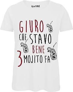 T-Shirt Divertente Donna Maglietta con Stampa Frasi Simpatiche Ho Visto Cose Tuned CHEMAGLIETTE