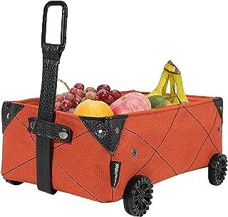 Panier Boîte De Rangement, Pliable Robuste Et Chariot Portable pour Faire du Shopping Et Le Camping, Le Camping Boîte De R...